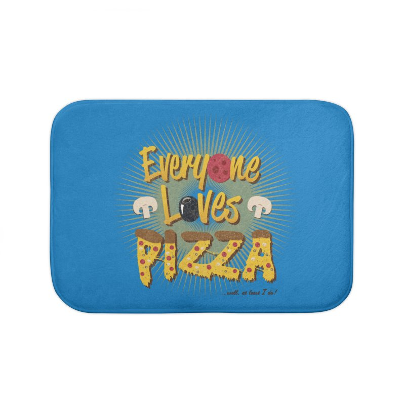 Everyone Loves Pizza Home Bath Mat by Mystic Soda Shoppe
