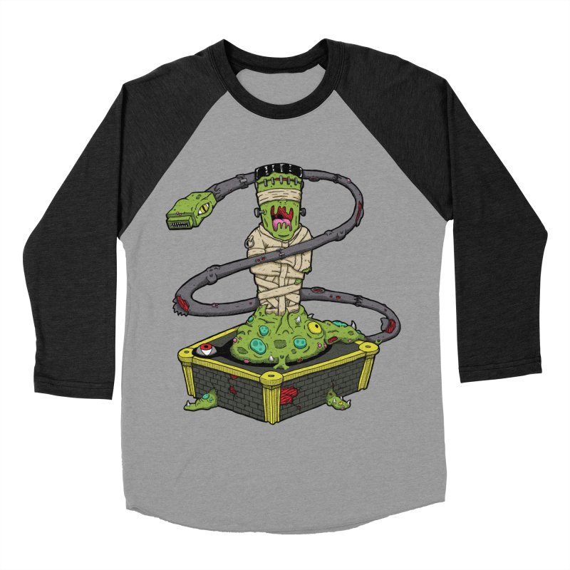 Controller Freaks - The Atari Men's Baseball Triblend Longsleeve T-Shirt by Mystic Soda Shoppe