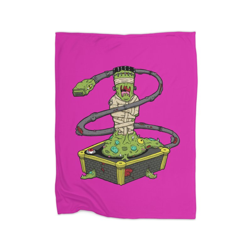 Controller Freaks - Subject 4T4R1 Home Fleece Blanket Blanket by Mystic Soda