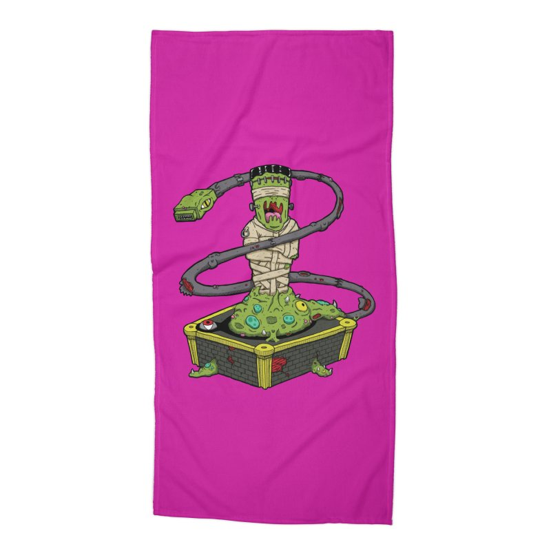Controller Freaks - Subject 4T4R1 Accessories Beach Towel by Mystic Soda