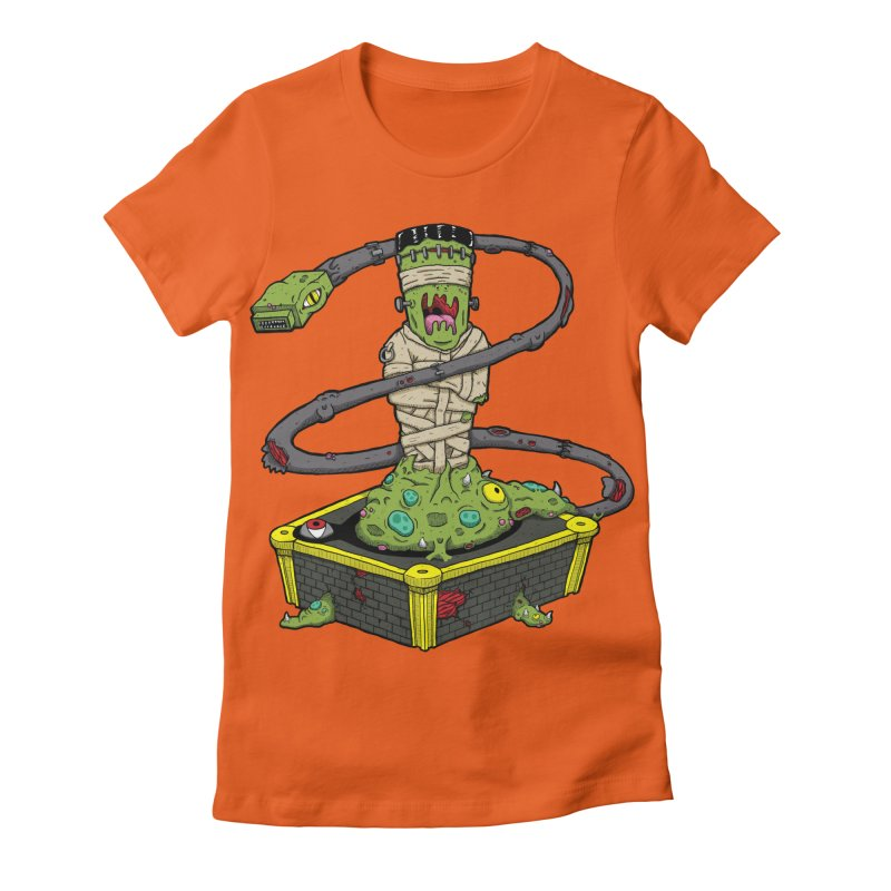 Controller Freak - The Atari Women's Fitted T-Shirt by Mystic Soda Shoppe