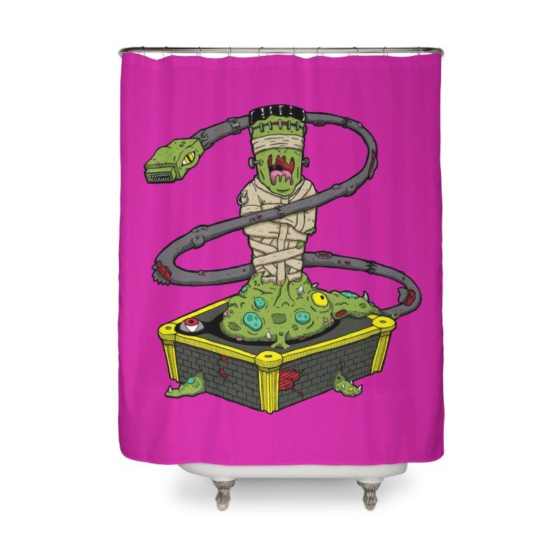 Controller Freak - The Atari Home Shower Curtain by Mystic Soda Shoppe