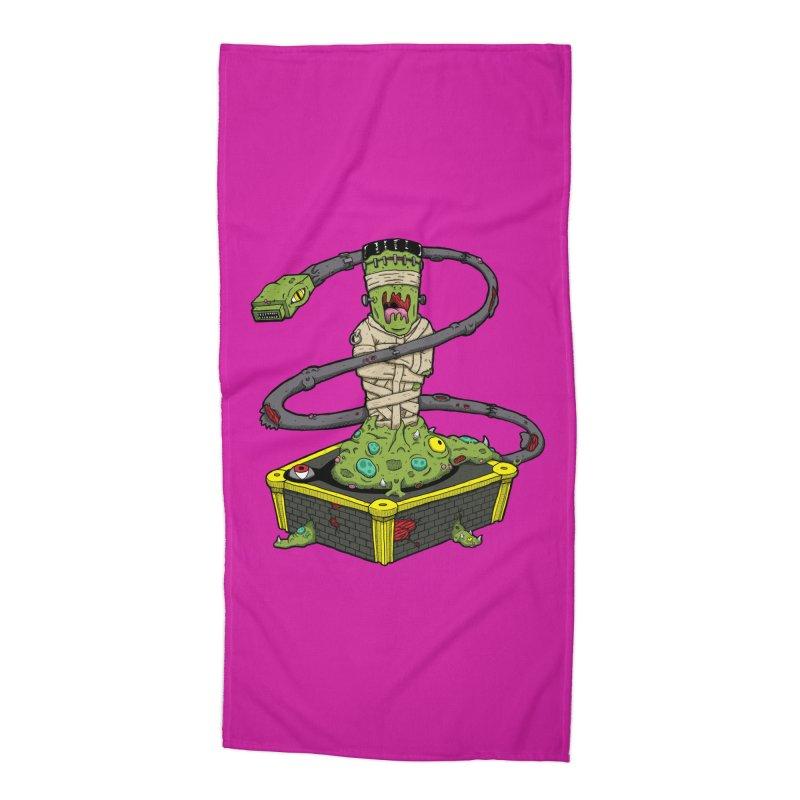 Controller Freak - The Atari Accessories Beach Towel by Mystic Soda Shoppe