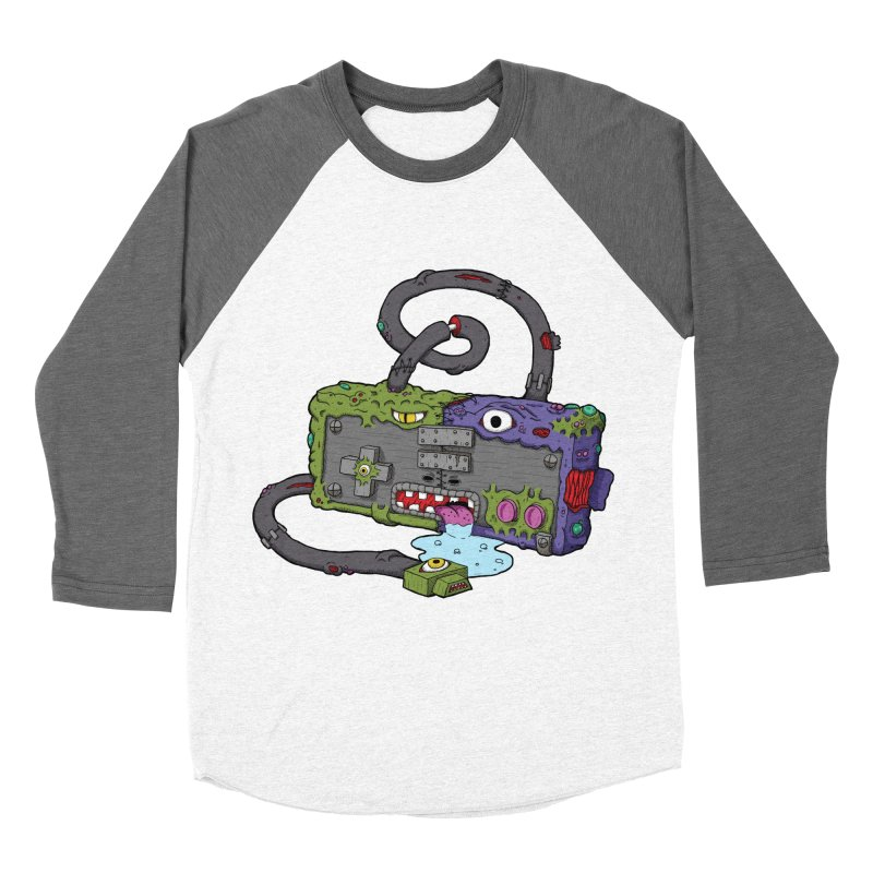 Controller Freaks - The NES Men's Baseball Triblend Longsleeve T-Shirt by Mystic Soda Shoppe