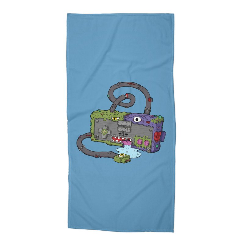 Controller Freaks - The NES Accessories Beach Towel by Mystic Soda Shoppe