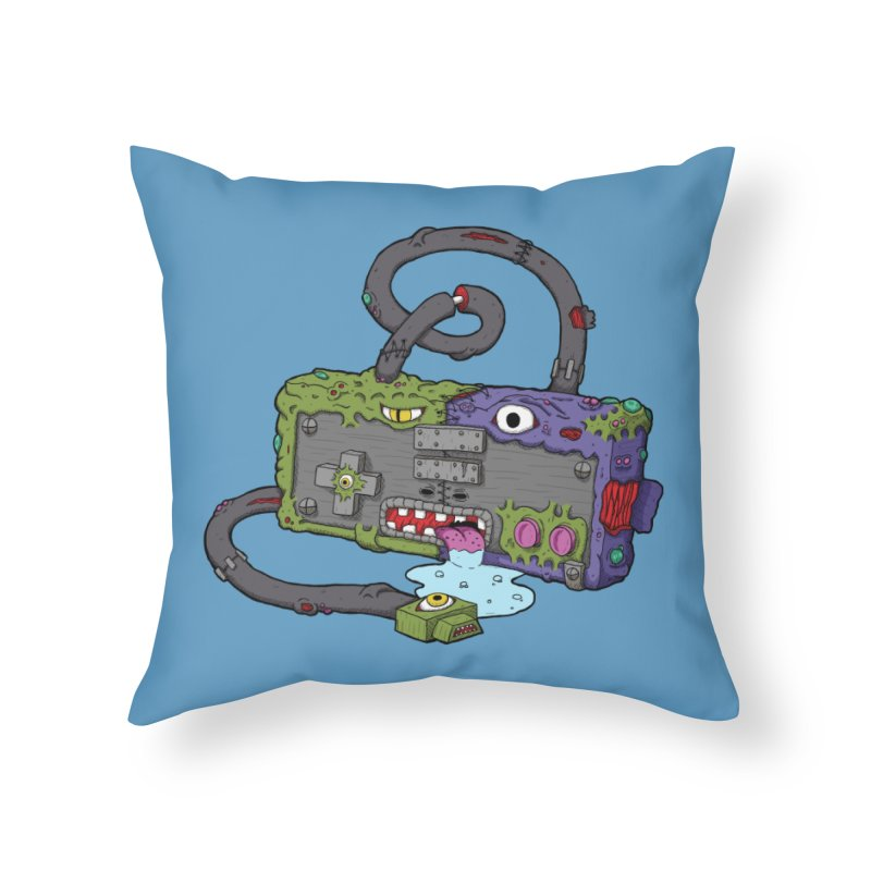Controller Freaks - The NES Home Throw Pillow by Mystic Soda Shoppe