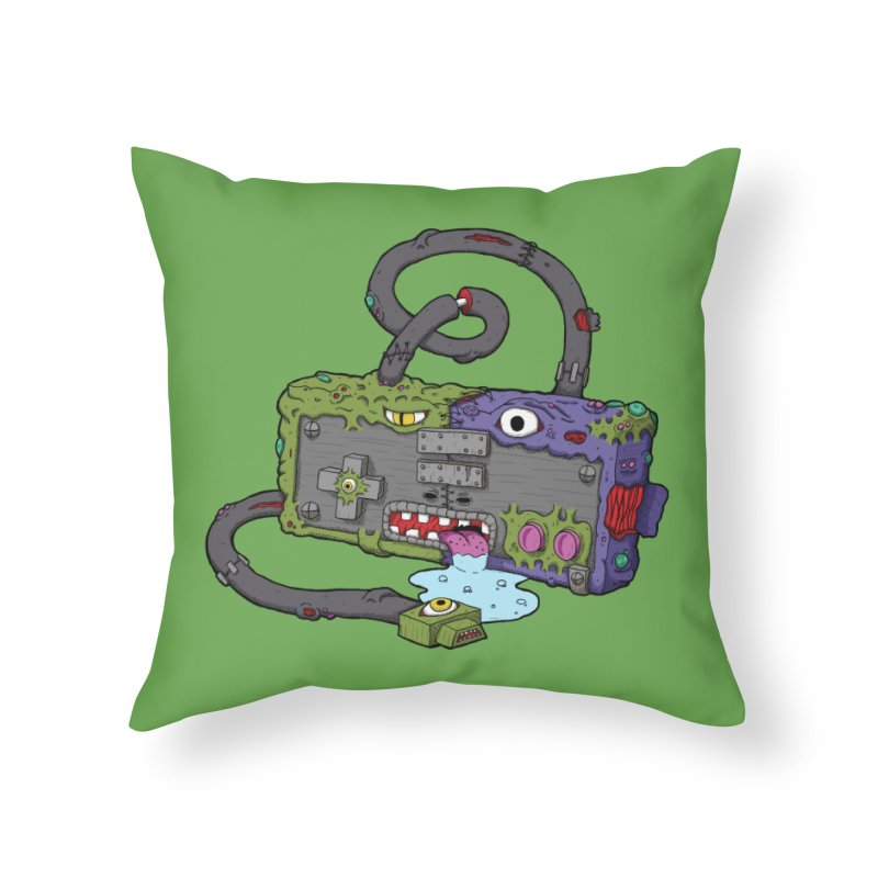 Controller Freaks - The NES in Throw Pillow by Mystic Soda Shoppe