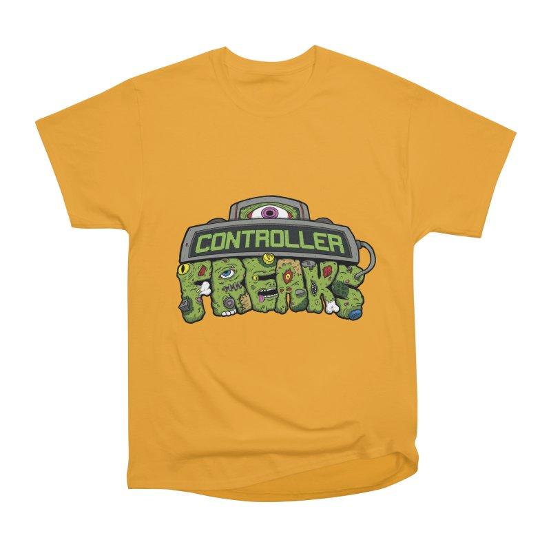 Controller Freaks - Logo Men's Heavyweight T-Shirt by Mystic Soda Shoppe