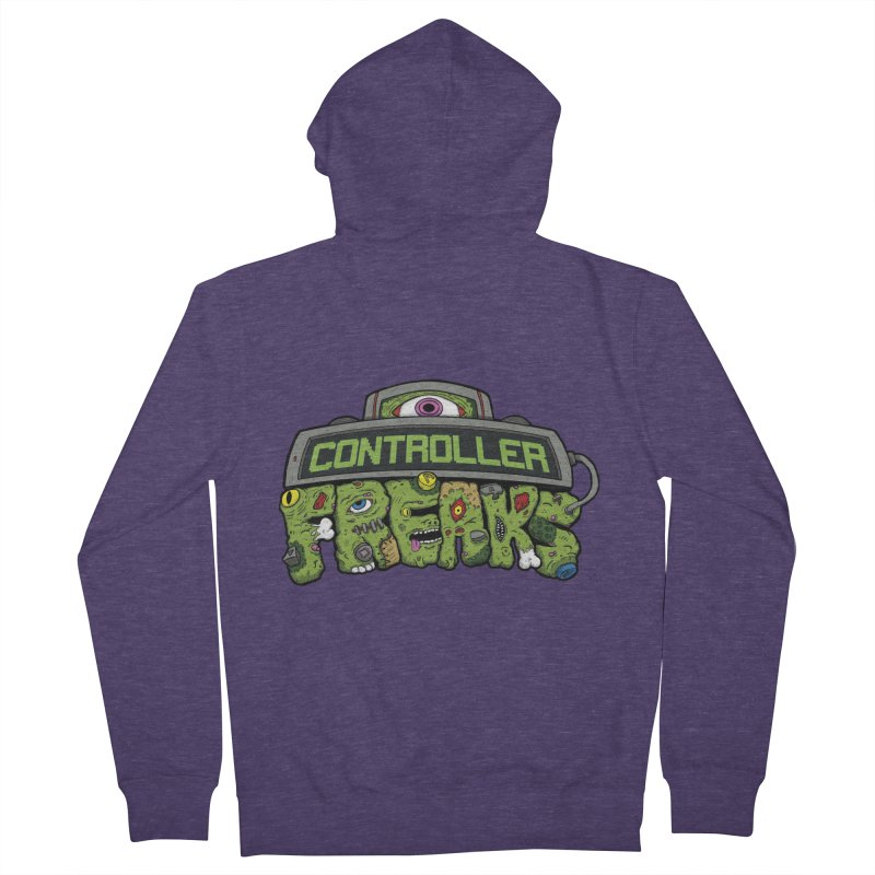 Controller Freaks - Logo Men's French Terry Zip-Up Hoody by Mystic Soda Shoppe