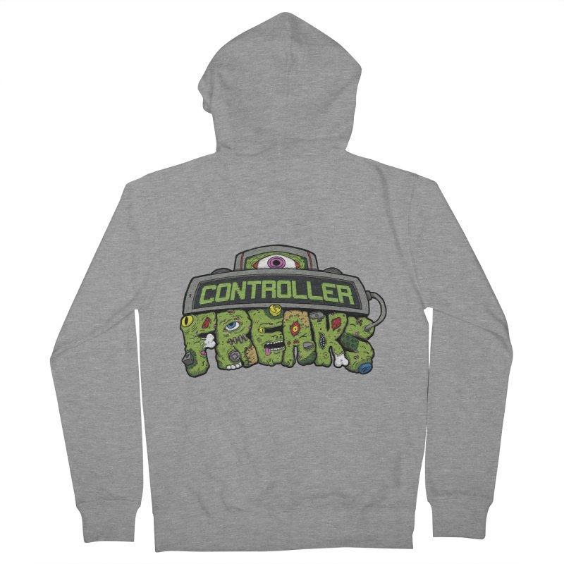 Controller Freaks - Logo Men's French Terry Zip-Up Hoody by Mystic Soda