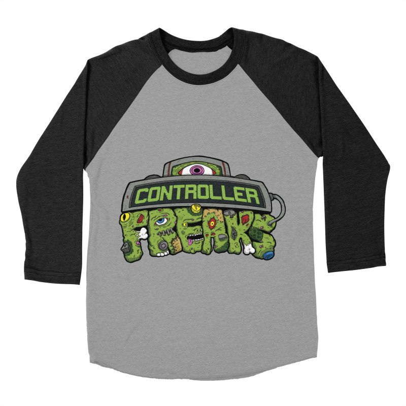 Controller Freaks - Logo Men's Baseball Triblend Longsleeve T-Shirt by Mystic Soda Shoppe