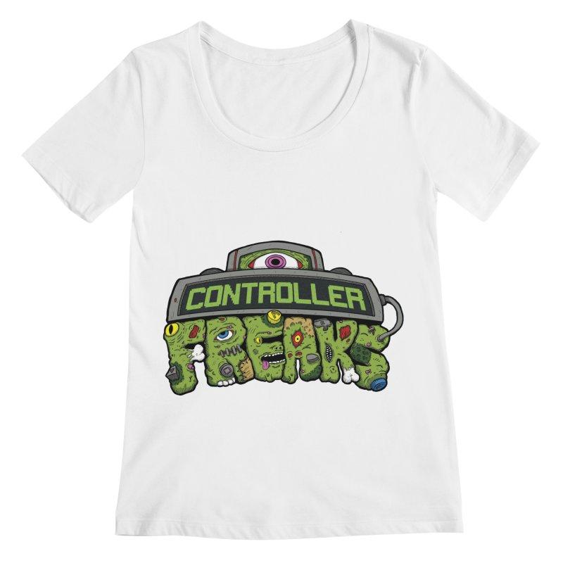 Controller Freaks - Logo Women's Regular Scoop Neck by Mystic Soda