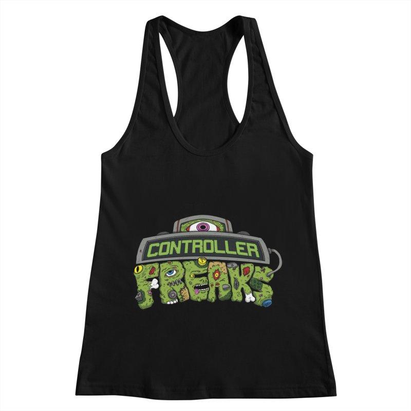 Controller Freaks - Logo Women's Racerback Tank by Mystic Soda