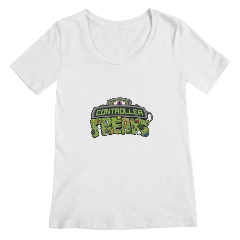 Controller Freaks - Logo Women's Regular Scoop Neck by Mystic Soda