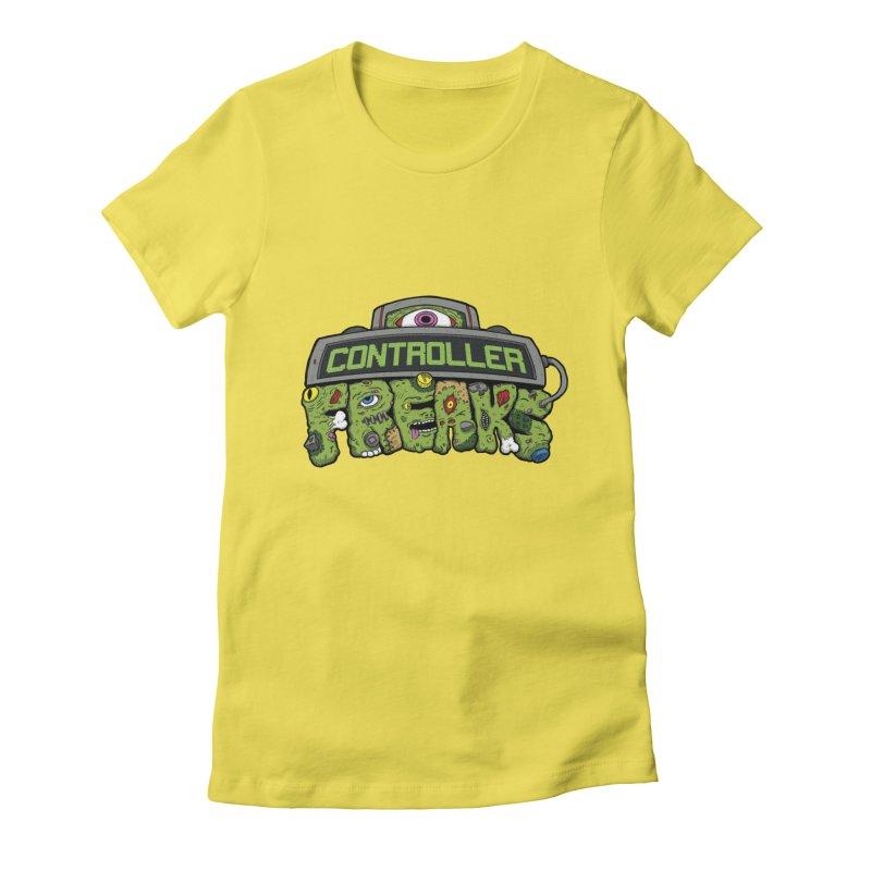 Controller Freaks - Logo Women's Fitted T-Shirt by Mystic Soda Shoppe