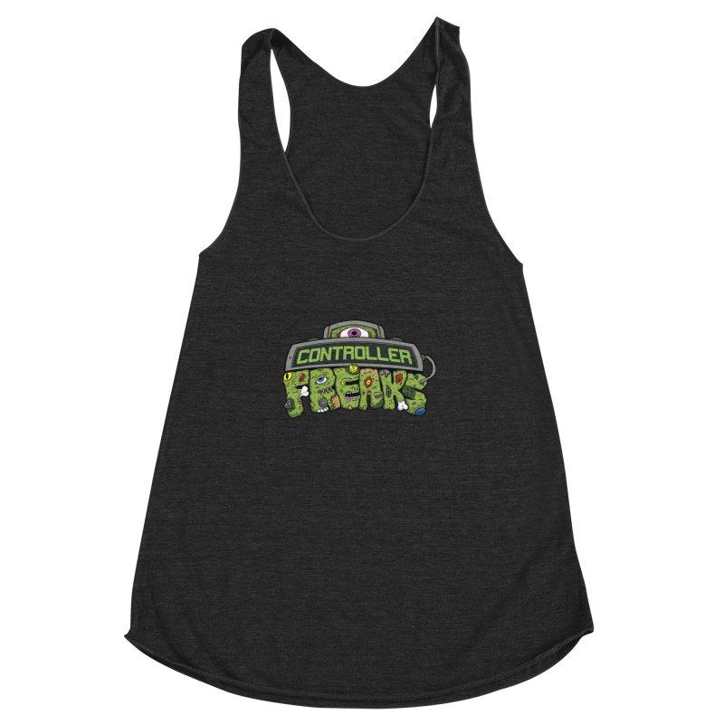 Controller Freaks - Logo Women's Racerback Triblend Tank by Mystic Soda Shoppe