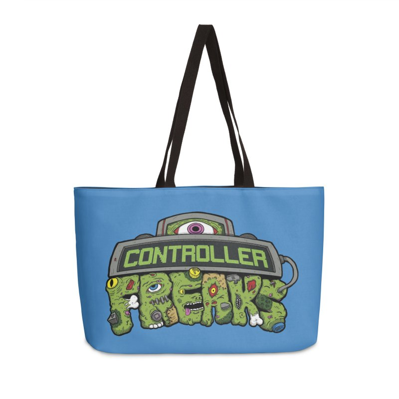 Controller Freaks - Logo Accessories Weekender Bag Bag by Mystic Soda