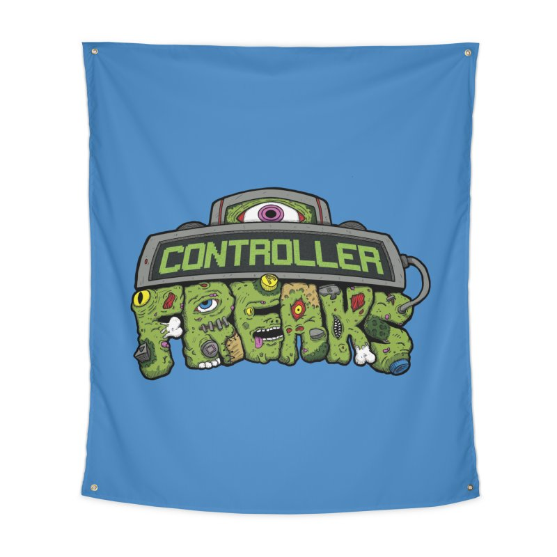 Controller Freaks - Logo Home Tapestry by Mystic Soda