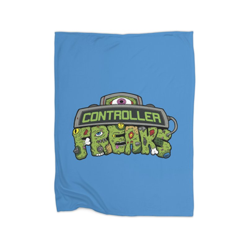 Controller Freaks - Logo Home Fleece Blanket Blanket by Mystic Soda