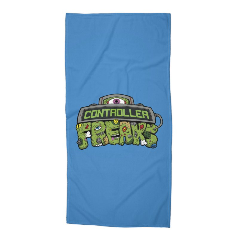 Controller Freaks - Logo Accessories Beach Towel by Mystic Soda