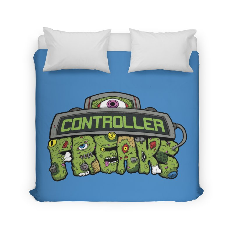 Controller Freaks - Logo Home Duvet by Mystic Soda Shoppe