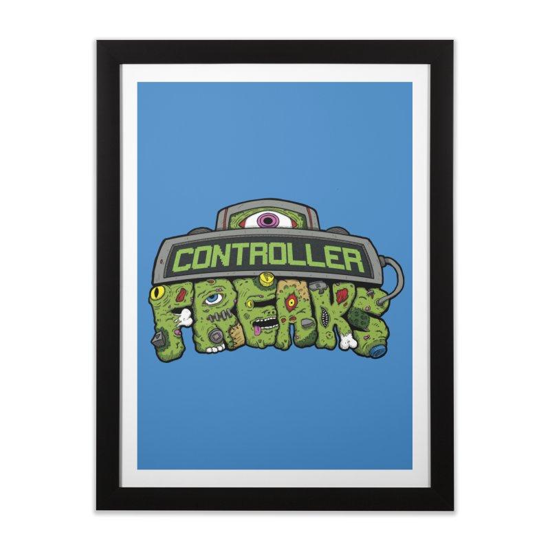 Controller Freaks - Logo Home Framed Fine Art Print by Mystic Soda