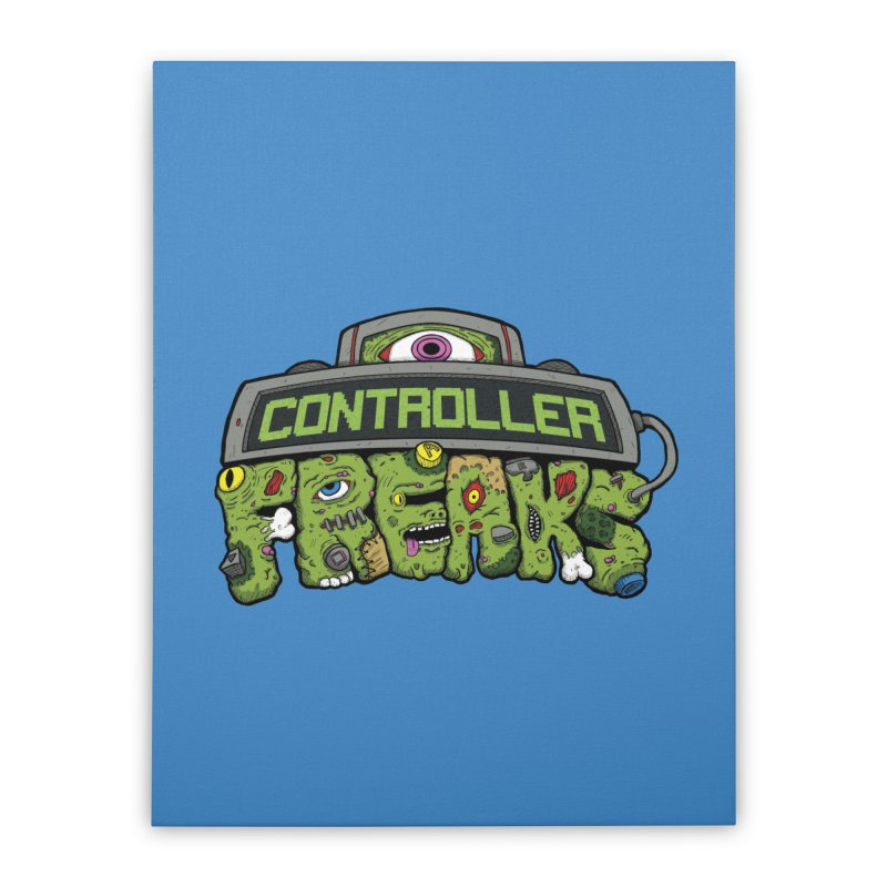 Controller Freaks - Logo Home Stretched Canvas by Mystic Soda