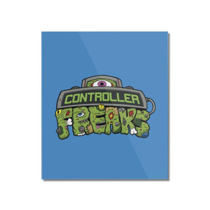 Controller Freaks - Logo Home Mounted Acrylic Print by Mystic Soda