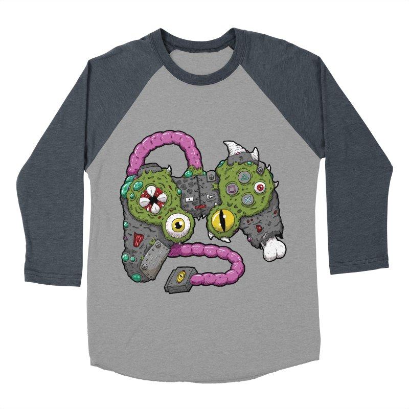 Controller Freaks - The DualShock Men's Baseball Triblend Longsleeve T-Shirt by Mystic Soda