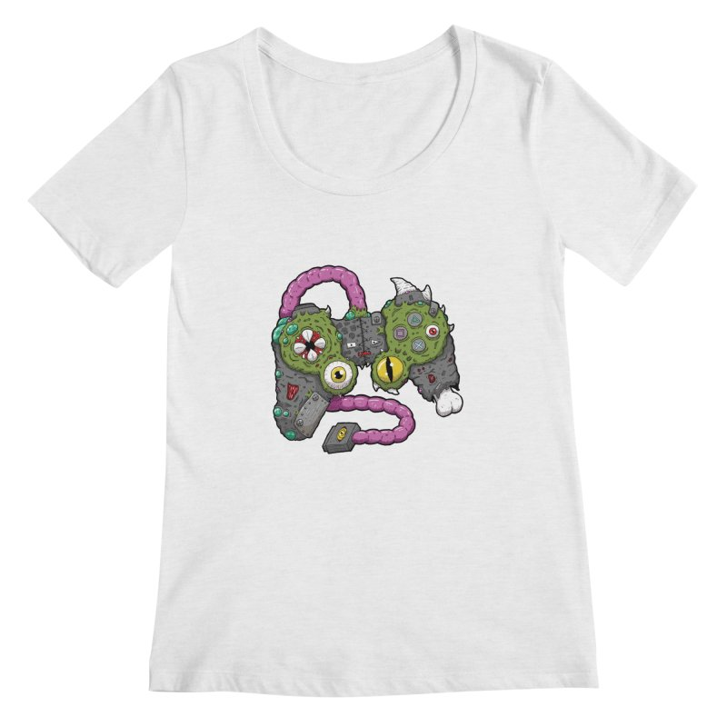 Controller Freaks - The DualShock Women's Regular Scoop Neck by Mystic Soda