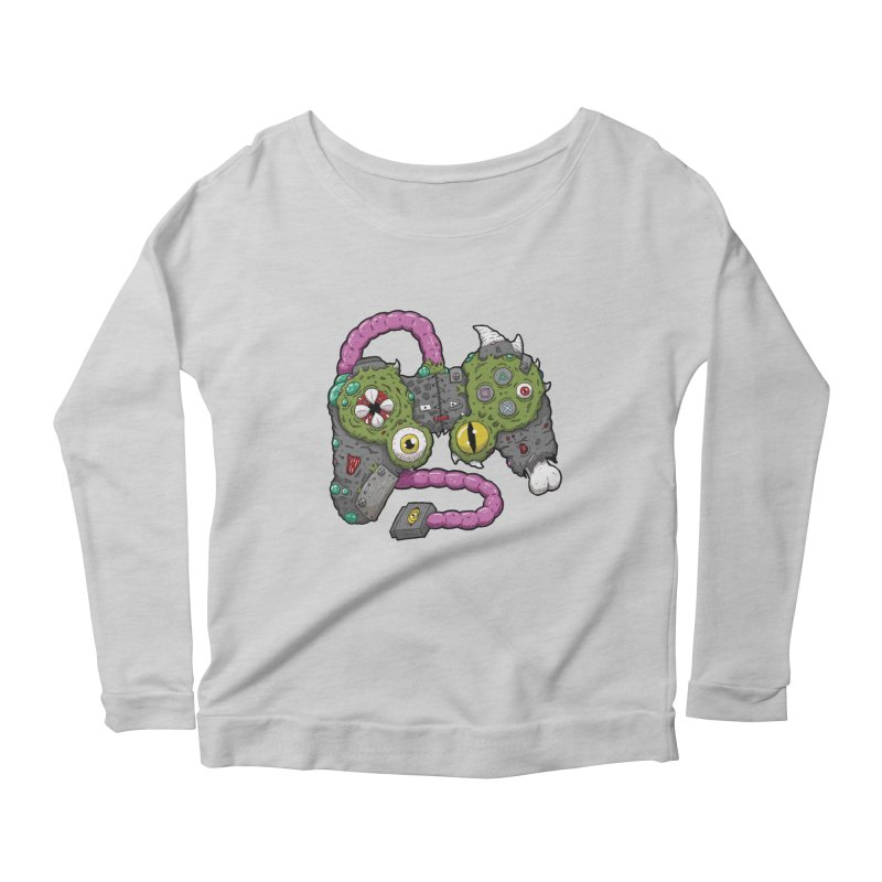 Controller Freaks - The DualShock Women's Scoop Neck Longsleeve T-Shirt by Mystic Soda