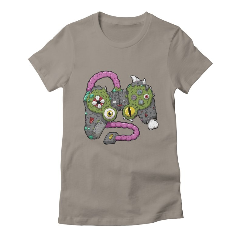 Controller Freaks - The DualShock Women's Fitted T-Shirt by Mystic Soda