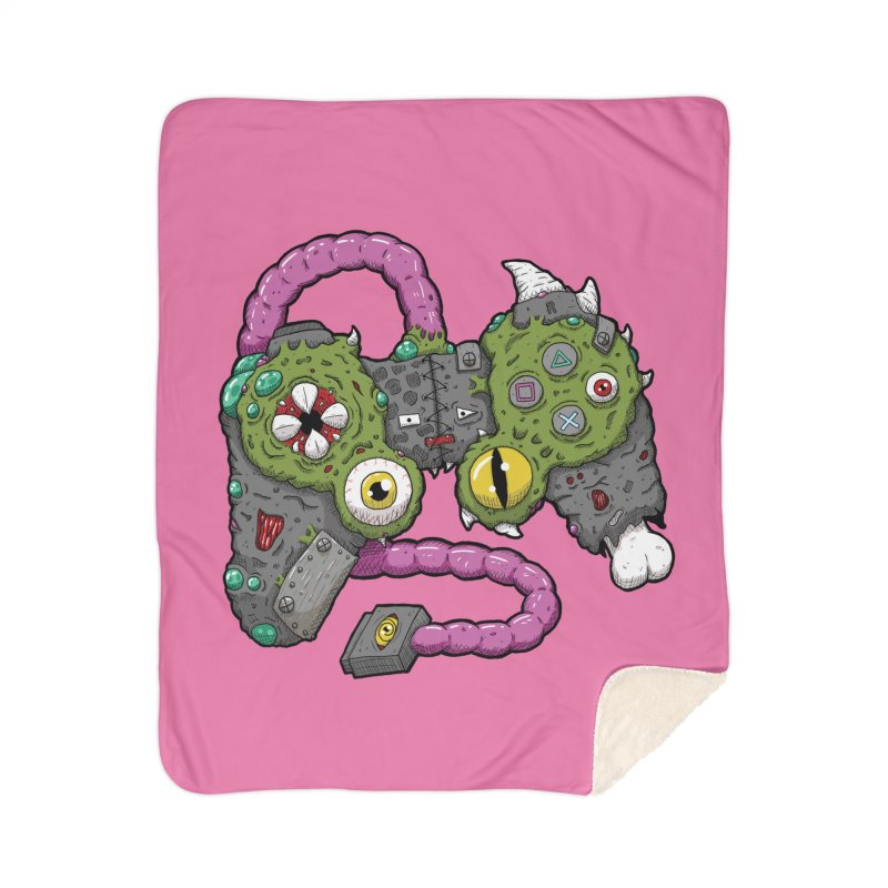 Controller Freaks - The DualShock Home Sherpa Blanket Blanket by Mystic Soda