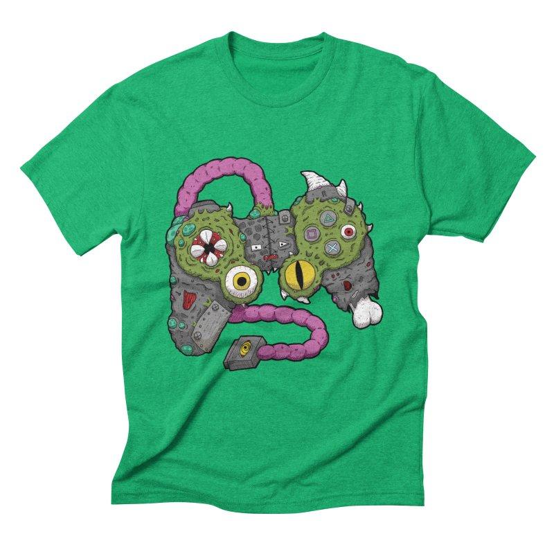 Controller Freaks - The DualShock Men's Triblend T-Shirt by Mystic Soda Shoppe