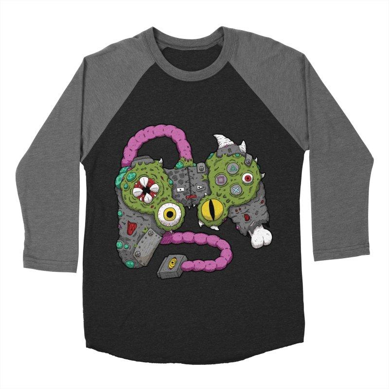 Controller Freaks - The DualShock Men's Baseball Triblend Longsleeve T-Shirt by Mystic Soda Shoppe