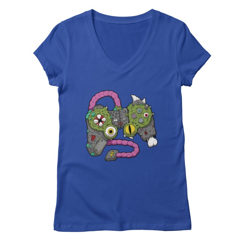 Controller Freaks - The DualShock Women's Regular V-Neck by Mystic Soda