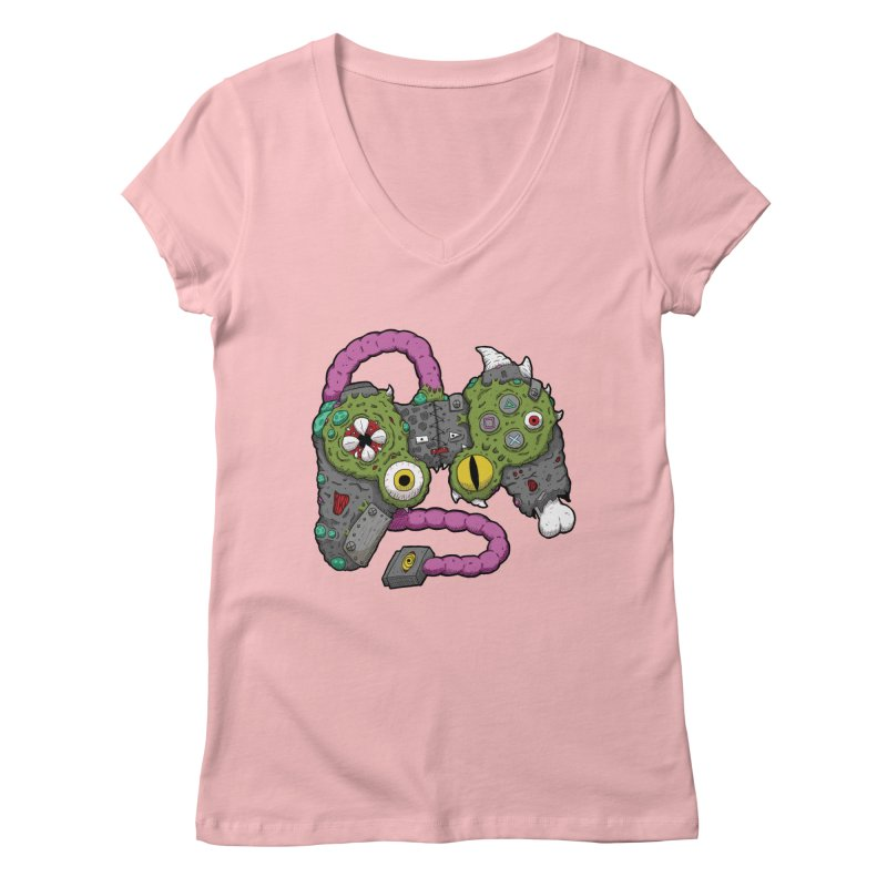 Controller Freaks - The DualShock Women's Regular V-Neck by Mystic Soda Shoppe