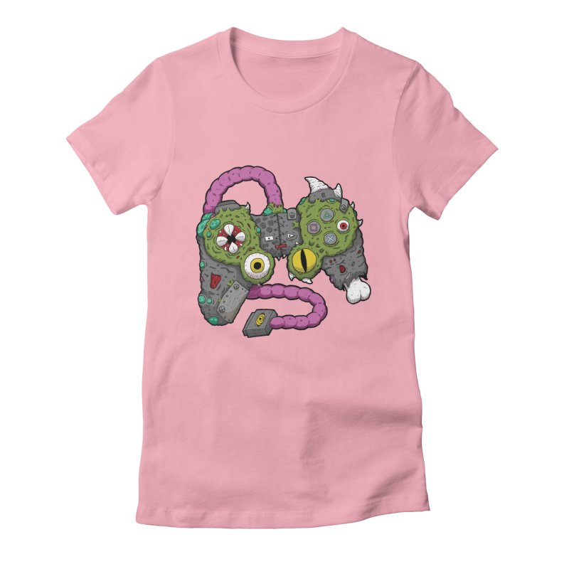Controller Freaks - The DualShock Women's Fitted T-Shirt by Mystic Soda Shoppe