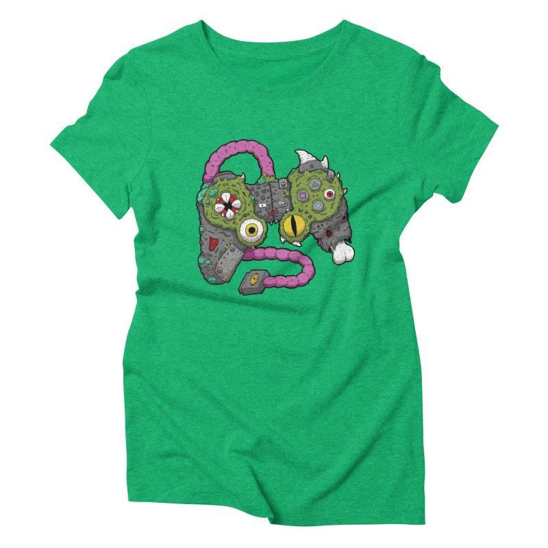 Controller Freaks - The DualShock Women's Triblend T-Shirt by Mystic Soda