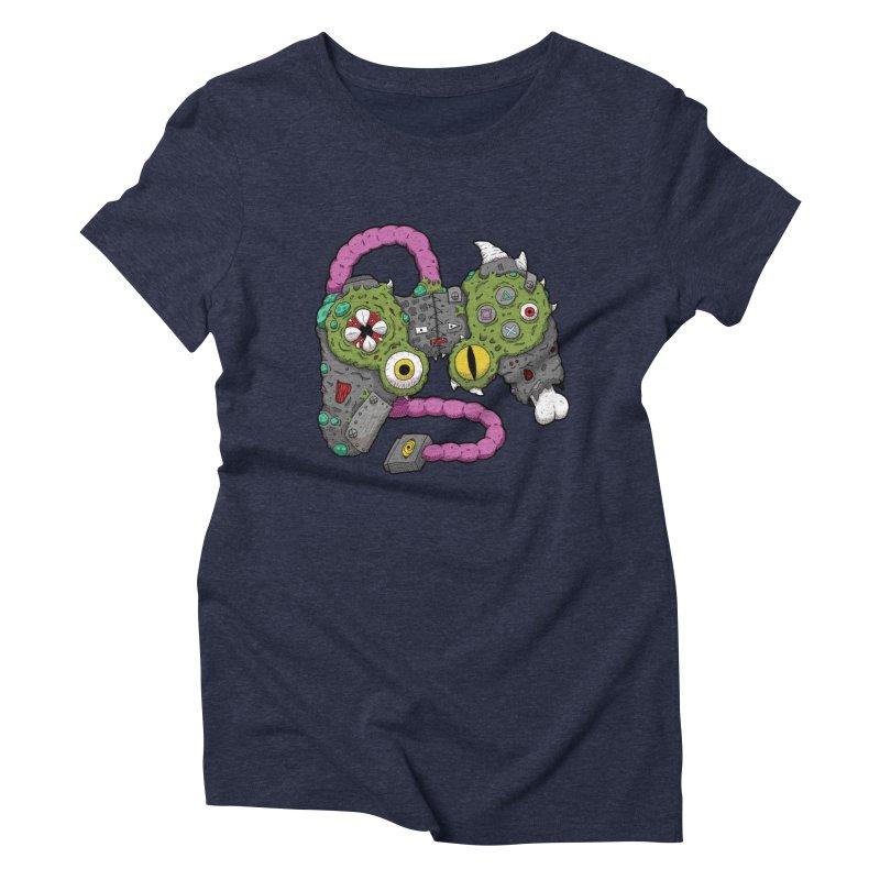 Controller Freaks - The DualShock Women's Triblend T-Shirt by Mystic Soda Shoppe
