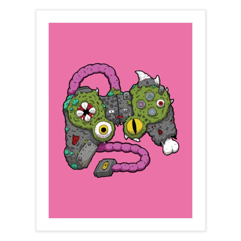Controller Freaks - The DualShock Home Fine Art Print by Mystic Soda Shoppe