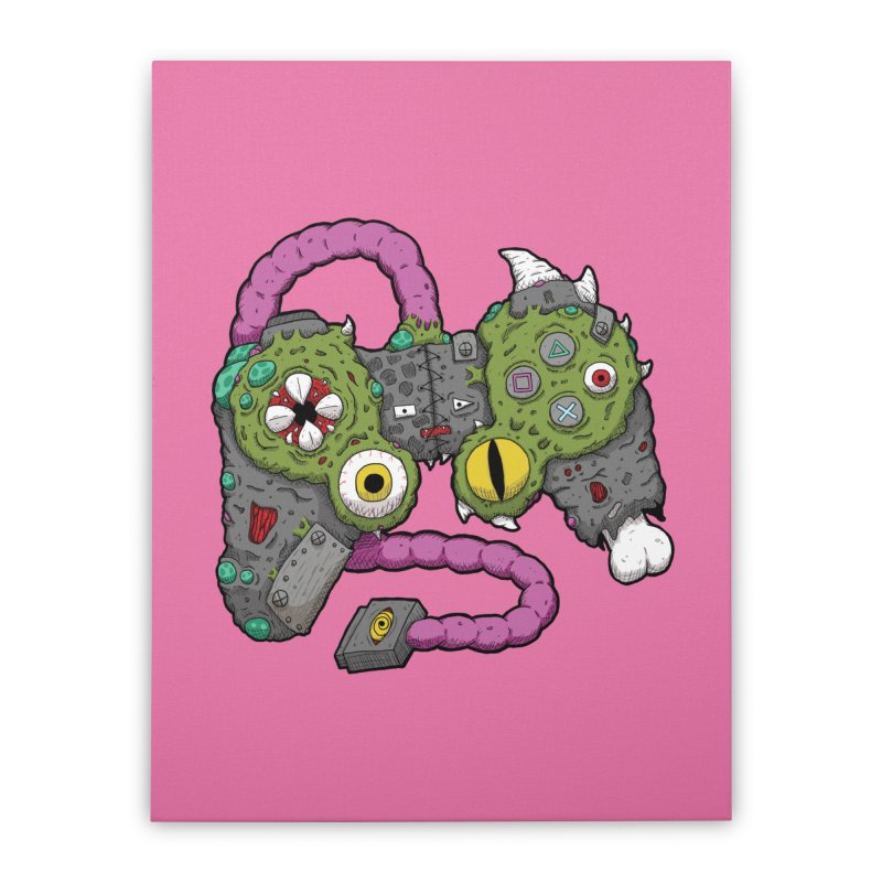 Controller Freaks - The DualShock Home Stretched Canvas by Mystic Soda Shoppe