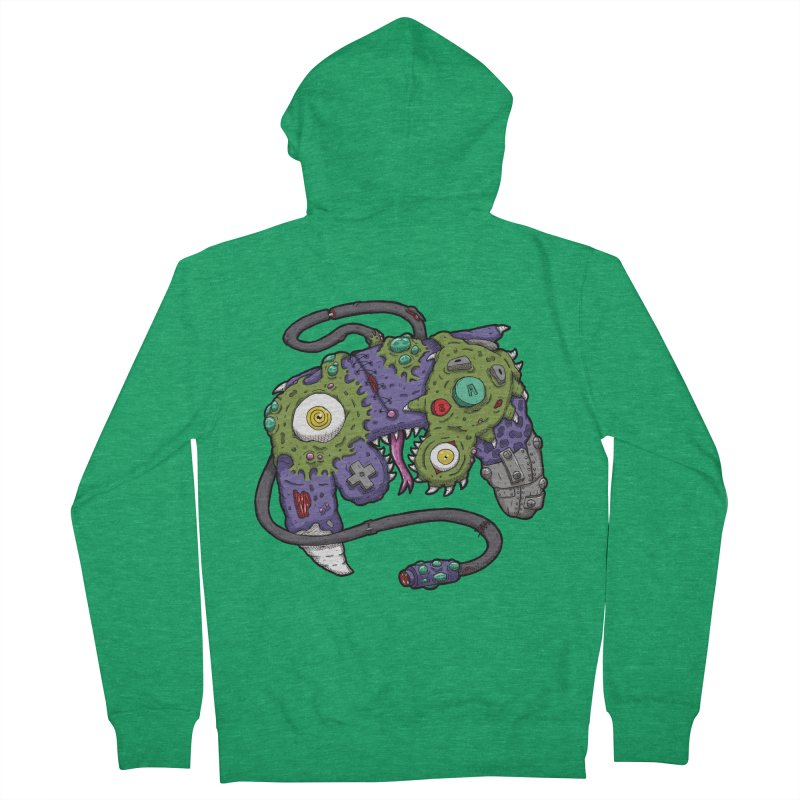 Controller Freaks - G4M3CUB3 Women's French Terry Zip-Up Hoody by Mystic Soda
