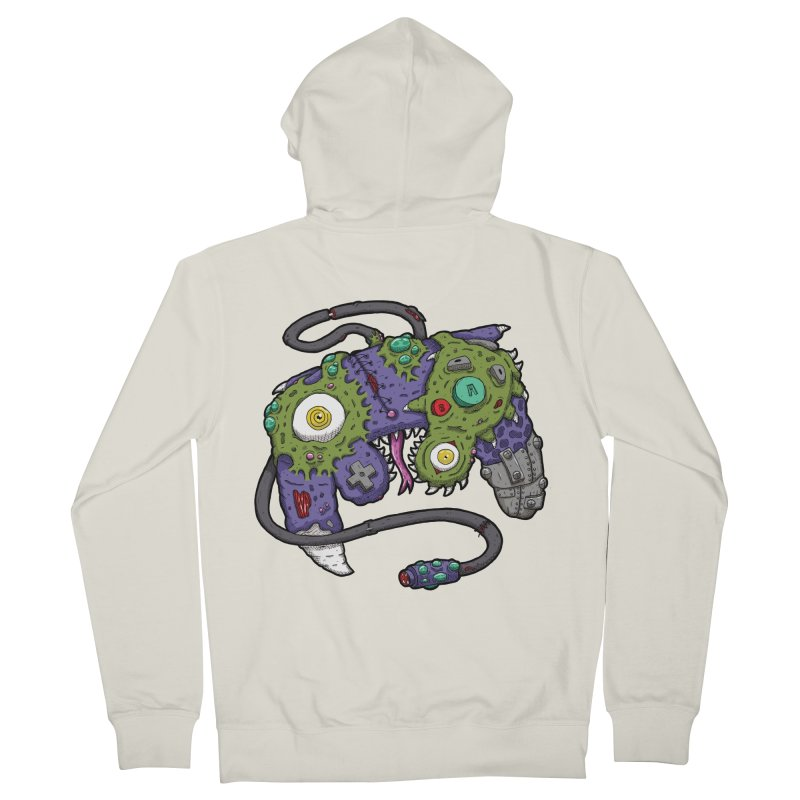 Controller Freaks - G4M3CUB3 Men's French Terry Zip-Up Hoody by Mystic Soda