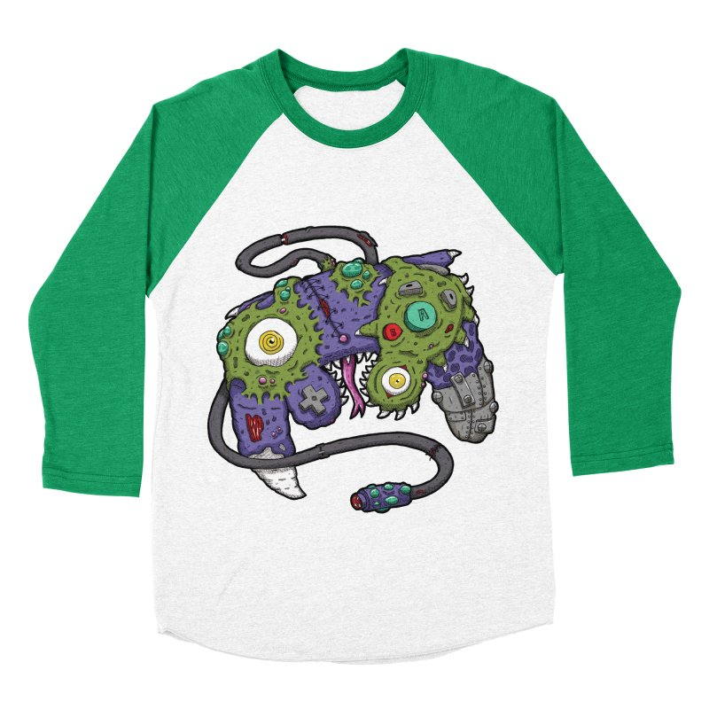 Controller Freaks - G4M3CUB3 Men's Baseball Triblend Longsleeve T-Shirt by Mystic Soda