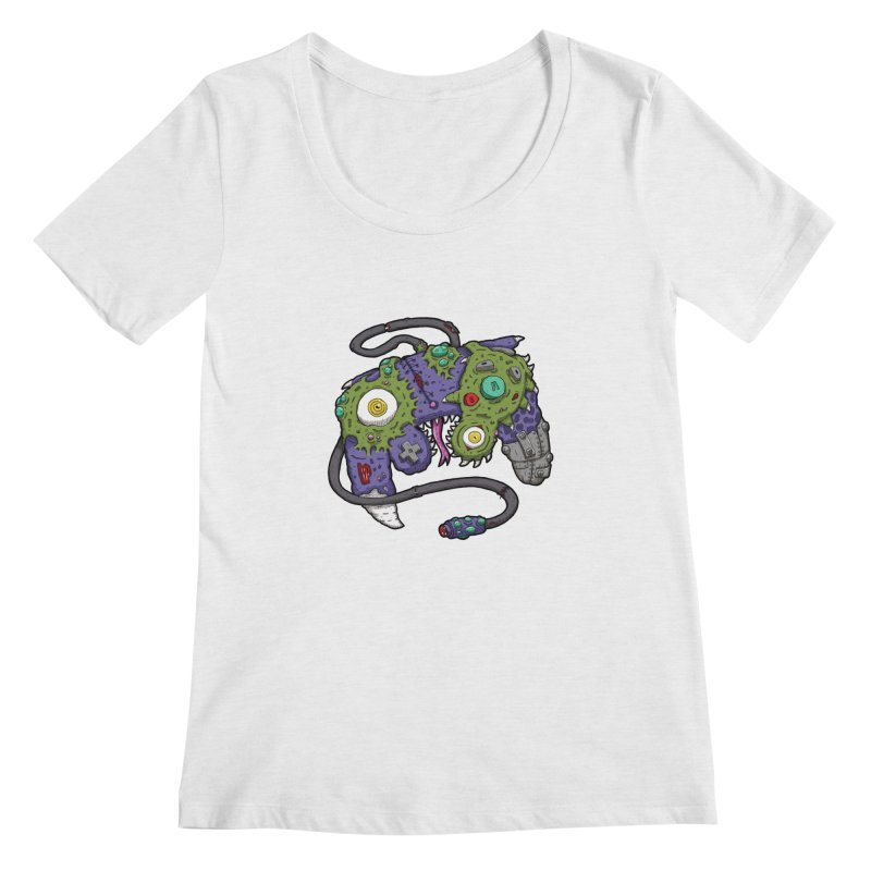 Controller Freaks - G4M3CUB3 Women's Regular Scoop Neck by Mystic Soda