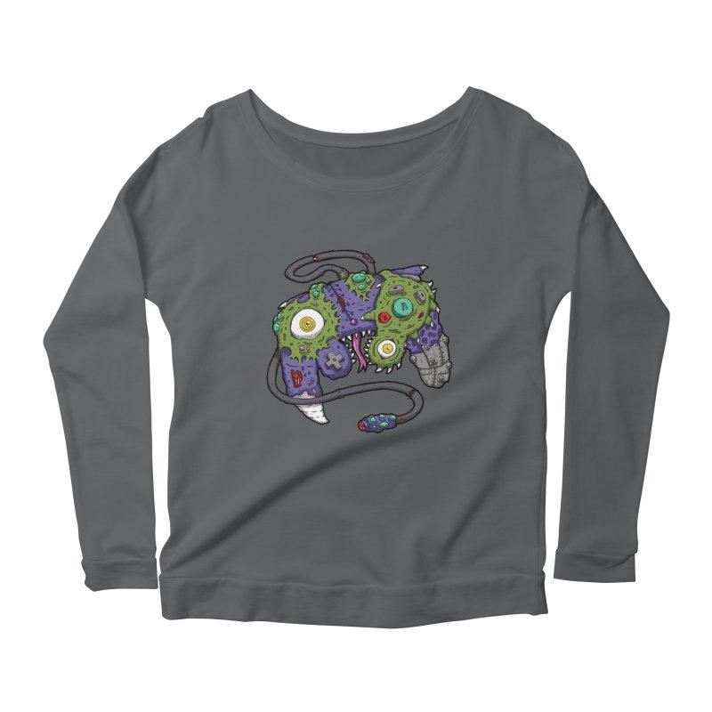 Controller Freaks - G4M3CUB3 Women's Scoop Neck Longsleeve T-Shirt by Mystic Soda
