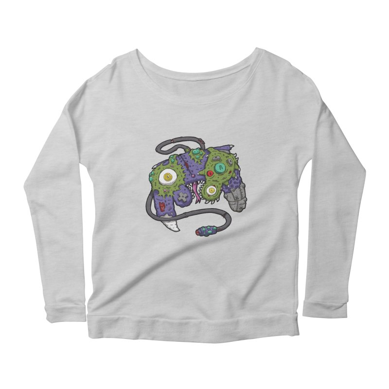 Controller Freaks - G4M3CUB3 Women's Scoop Neck Longsleeve T-Shirt by Mystic Soda