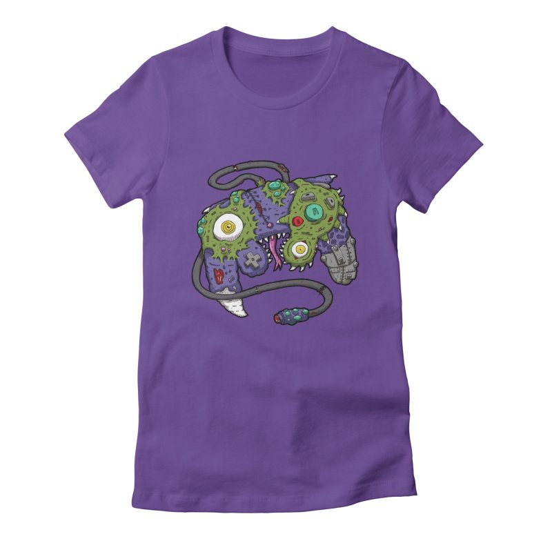 Controller Freaks - G4M3CUB3 Women's Fitted T-Shirt by Mystic Soda