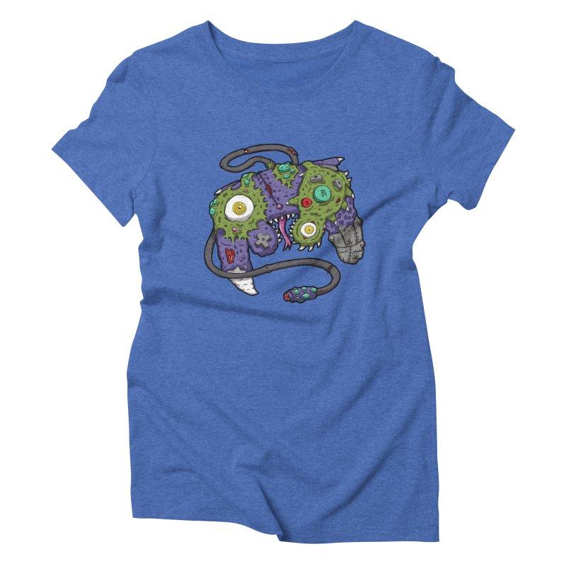 Controller Freaks - G4M3CUB3 Women's Triblend T-Shirt by Mystic Soda